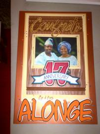 Wedding Anniversary Greeting Card (18 x 11' inches) - Price: N5000