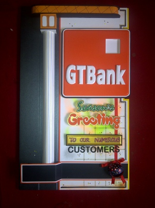 Bank Season's Greetings Card (30 x 13' inches) - Price: N10000
