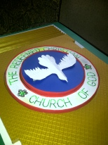 Redeemed church logo hand crafted