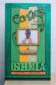 Coronation Greeting Card (30 x 13' inches) - Price: N10000