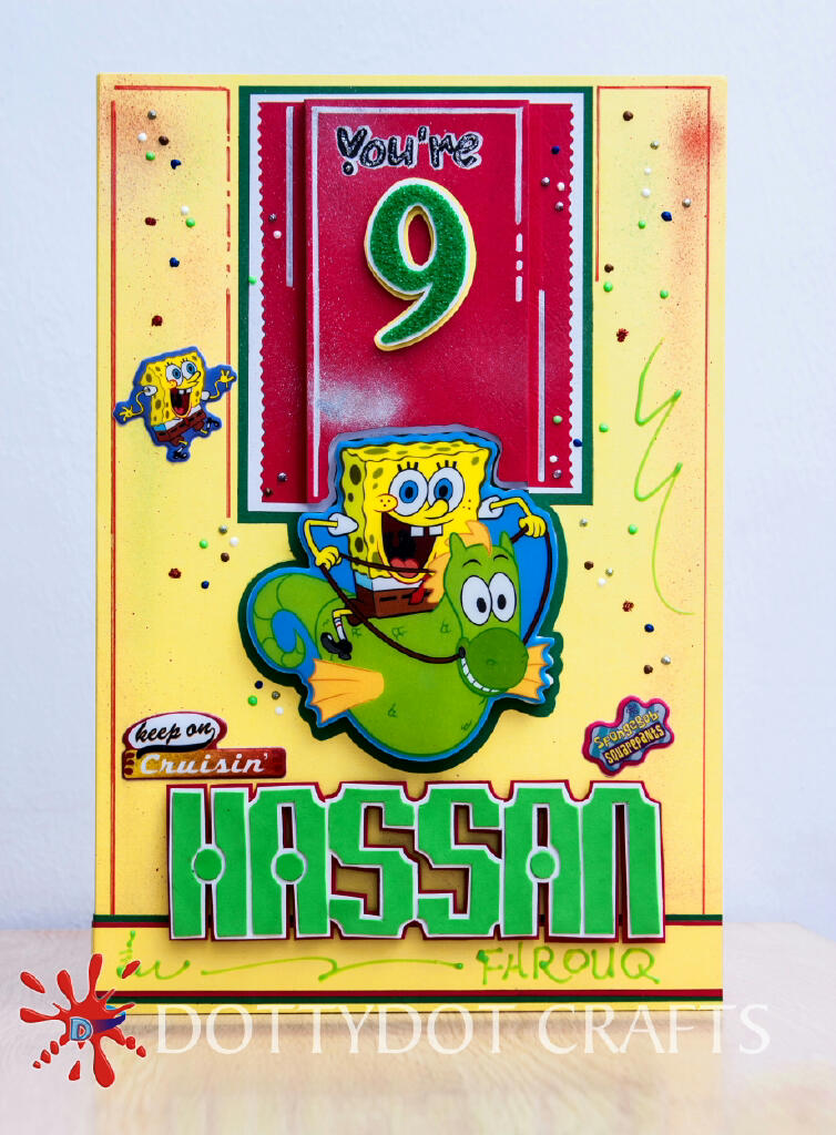 SpongeBob Animated Birthday Greeting Card