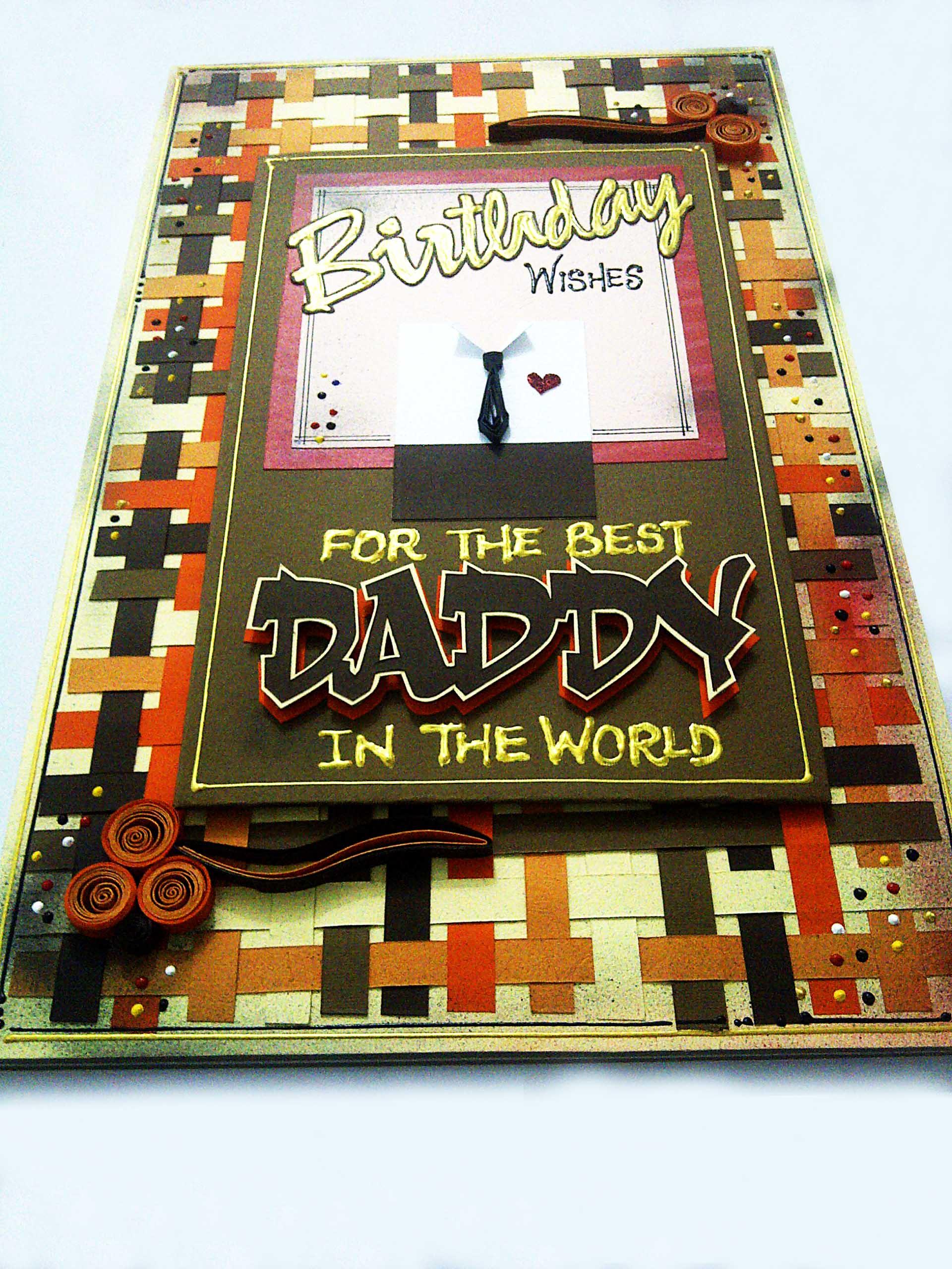Birthday card for dad dottydot crafts birthday greeting card daddy 1 kristyandbryce Gallery