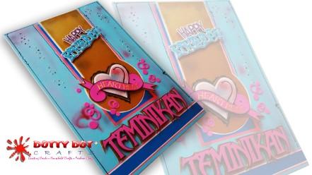 Birthday Card with Heart banner| DottyDot Crafts