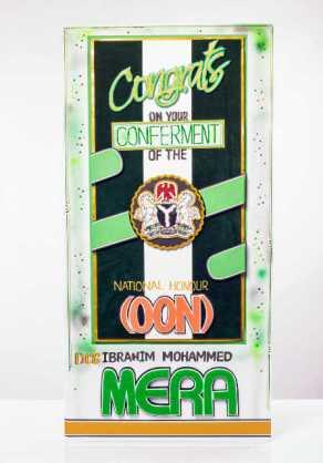 Congratulations Greeting Card | Nigerian National Honour