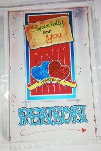Masculine Valentine Greeting Card