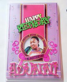 Medium Size Birthday Greeting Card