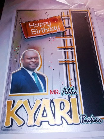 Medium Size Birthday Greeting Card | Abba Kyari Bukar