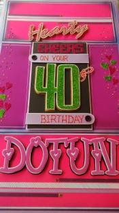 40th Birthday Card