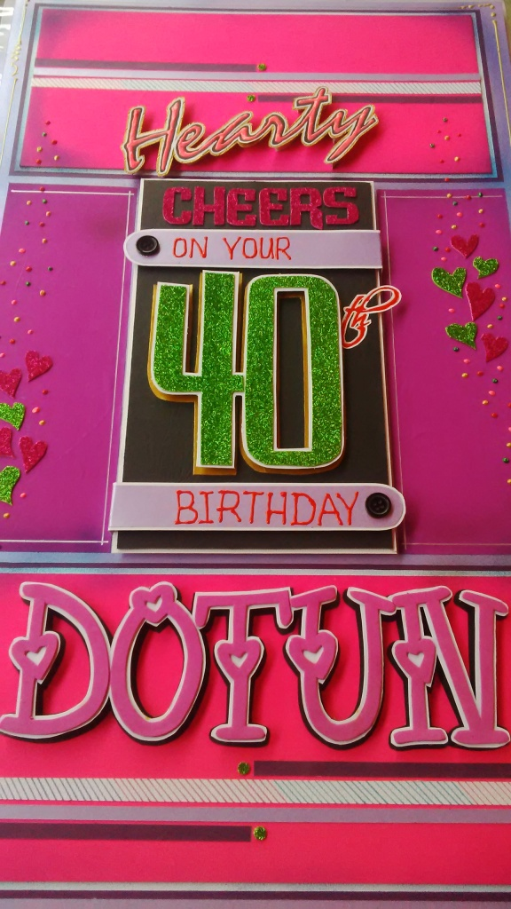40th Birthday Card - DottydotCrafts (1)