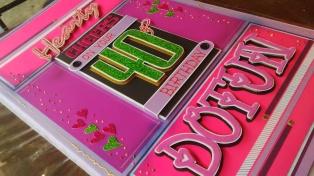 40th Birthday Card - DottydotCrafts